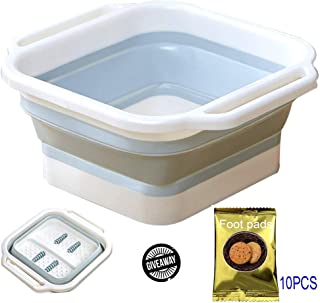 Foot Massagers, Foot Soaking Bath Tub With Foot Pads Foldable Bucket Foot Massage Heightening Portable Foot Bath Barrel Soothing Tired Feet Relaxation