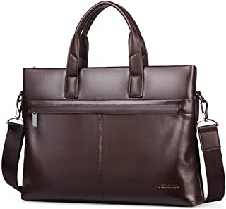 New Leather Handbag, one Shoulder Messenger Bag Men's Business Bag Briefcase Leather Computer Bag