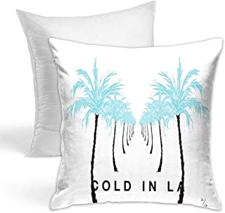 VIXXLH Double Side Printed Throw Pillow Cushion Cover with LA Cold WDW Original Design Hold Pillow Music Warist Pillow for Home Store Decorative 16 X 16 Inch
