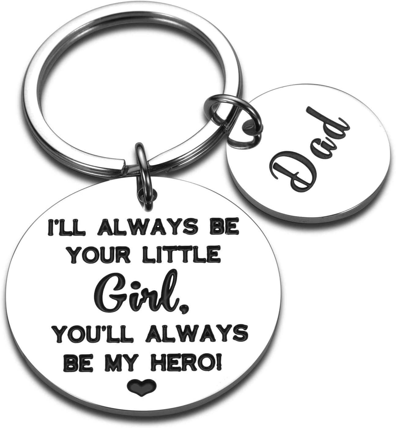 Dad Daughter Keychain Birthday Christmas Fathers Day Gifs from Step Daughter to My New Step Dad Father of the Bride Gifs for Papa New Daddy Wedding Valentines Day Gift for Men Father to Be Keyring