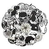 50 Unids/Set Blanco y Negro Fresco Pegatinas de Graffiti Pegatinas de Dibujos Animados Regalos Juguetes para Niños DIY Skateboard Laptop Car Phone