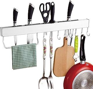 DUDDP Étagère cuisine Rangement Cuisine Organisateur Outil Suspendu Siège Planche À Découper Insert Porte-Couteau Porte-Se...