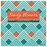 TF PUBLISHING - 2022 Family Planner Wall Calendar - Home and Office Organization - Large Monthly Grid Space and Stickers for Planning - 12'x12'