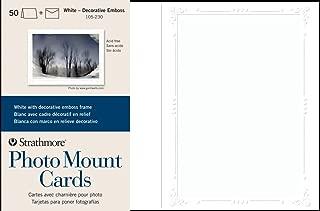 Strathmore 105-230 Photo Mount Cards, White Decorative Embossed Border, 50 Cards & Envelopes