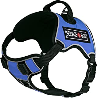 Dogline Quest No-Pull Dog Harness with 3D Rubber Service Dog Removable Patches Reflective Soft Comfortable Dog Vest with Q...