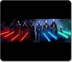 Rectangle MousEPAd Customized Nonslip Rubber Star Wars Sith and Jedi Water Resistent..