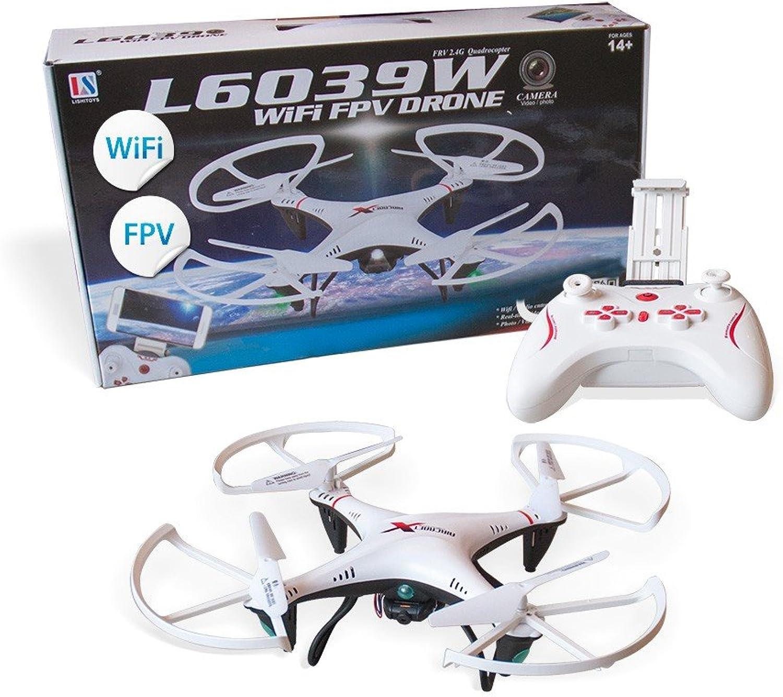Aircraft L6039W WiFi Quadrocopter FPV Drohne mit Kamera wei