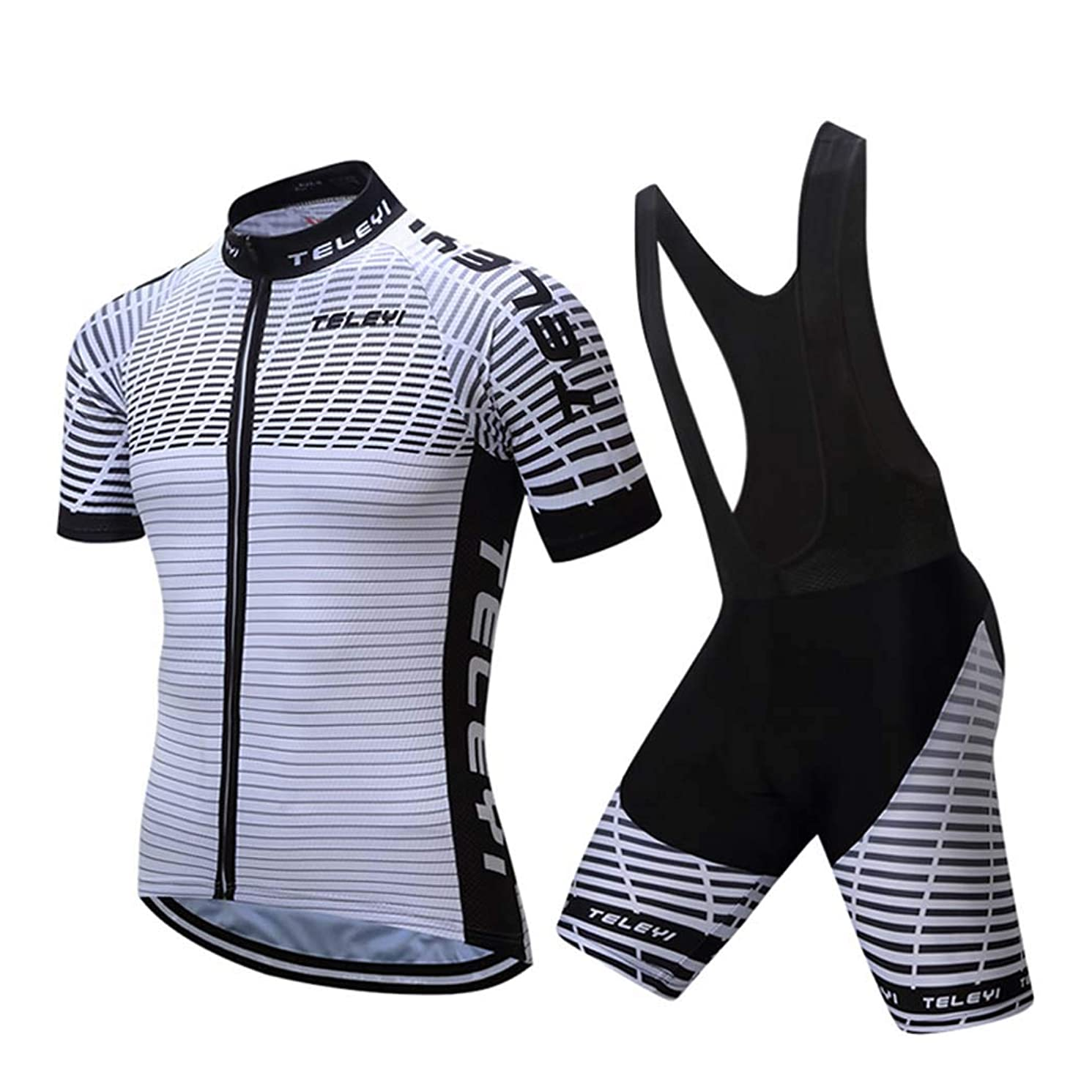 TELEYI Biker Shorts, Cycling Jersey Mens Cycling Shorts Soft Breathable Quick-Dry with Padded for Outdoor Sports MTB Road Bicycle,B,XXL