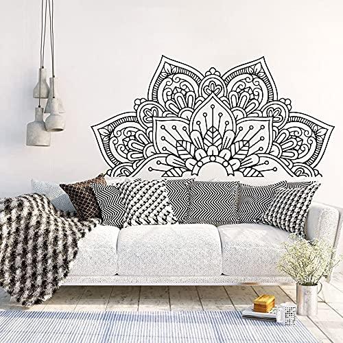 Mandala Viny Etiqueta de la pared Calcomanía artística Meditación Yoga Deca Etiqueta creativa Decoración del hogar Papel tapiz Etiqueta de la pared Otro color 43x85cm