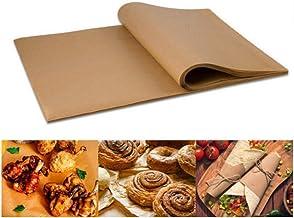100 Pcs Parchment Paper Baking Sheets, Non-Stick Precut Parchment Papers Baking Sheets, Perfect for Baking Grilling Air Fr...