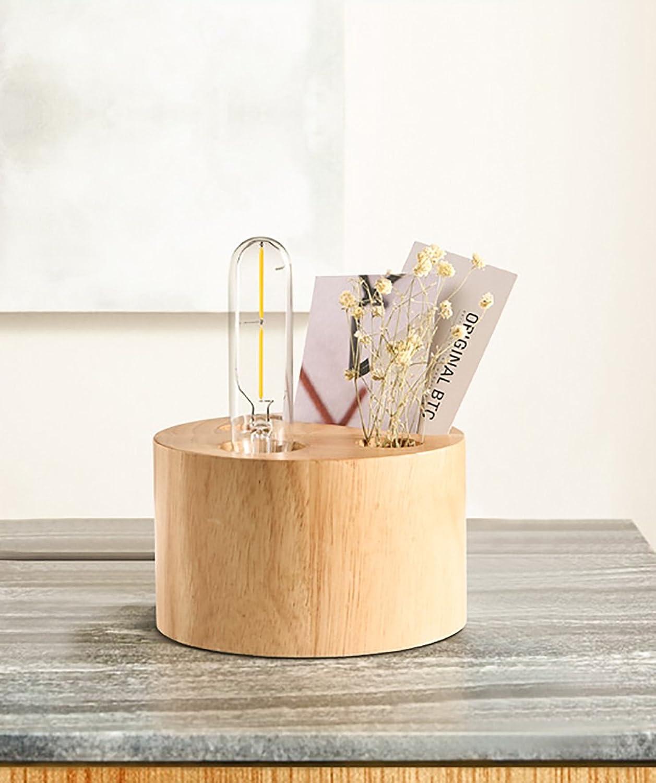 Schlafzimmer Tischlampe Loft American Land Persnlichkeit kreative Holz Schlafzimmer Stift Lampe retro Holz Nachttischlampe LED-Lampe