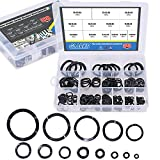 Glarks 320Pcs Carbon Steel Compression Type Wavy Wave Crinkle Spring Washers Assortment Kit