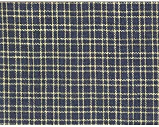 Heritage Navy Blue 1 Homespun Cotton Plaid Fabric by JCS - Sold by The Yard