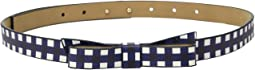 "5/8"" Gingham Printed Classic Bow Belt"