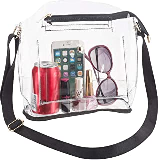 Women Clear Crossbody Purse Bag for Concert, NFL Stadium Approved, School & Work, Transparent Plastic PVC Shoulder Handbag 10