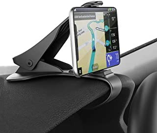 Car Phone Holder Universal GPS Navigation Dashboard Mobile Phone Clip,Rugged Material Upgrade Version, HUD Design Navigation/Call More Secure. Suitable for iPhone/Samsung (3-6.5 inch Mobile Phone