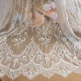Tesoro Barca 300 x 150 cm Tessuto di Pizzo per Matrimonio Decorazione casa Abito Fiore Pizzo tovaglia Fai da Te Vestiti Tenda Runner da tavola.