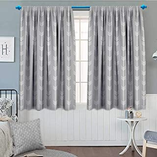 SeptSonne-Home Arrow Decor Collection Blackout Window Curtain Continuous Arrow Geometric Pattern Monochromatic Art Print Customized Curtains 52