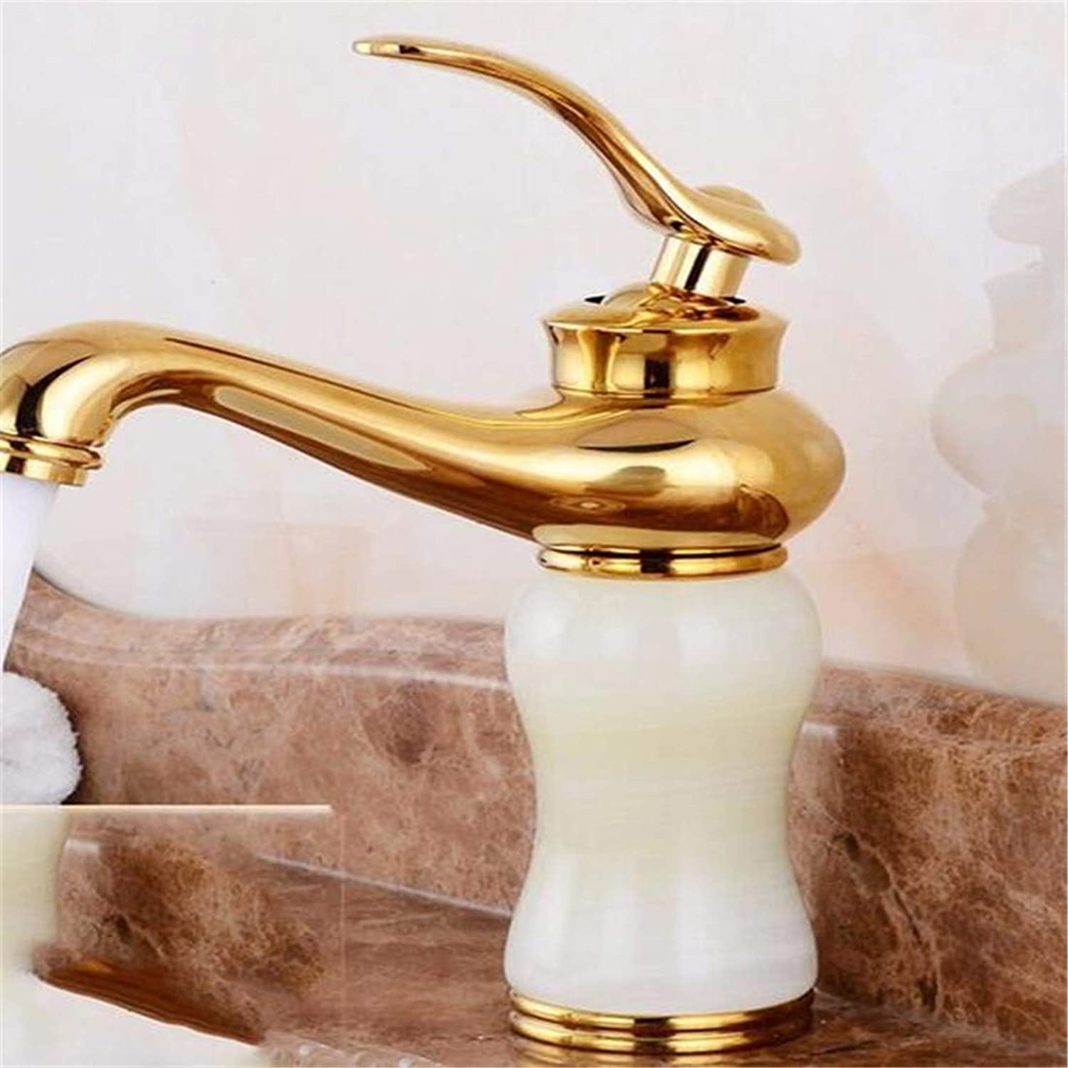 Chrome Kitchen Sink Tap Sink Mixer Tap Faucet Modern Copper Hot and Cold Basin gold Plated Water Tap