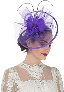 1320be3d9 Amazon.com: Purples - Fascinators / Special Occasion Accessories ...
