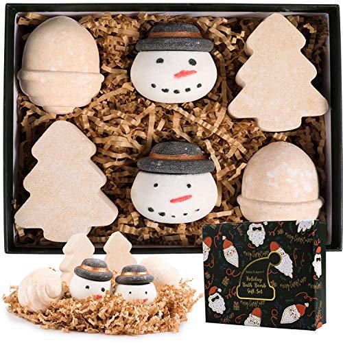 Boule de Bain, Coffret Cadeau Femme, 6PCS Bombe de Bain, Idée Cadeau pour Noël, Parfum de Lavande, Rose et Vanille