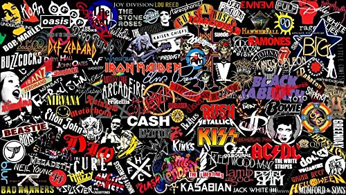 Rock Band Logo Adult Jigsaw Puzzle 1000 Piezas Rock Band Logo Jigsaw Puzzle