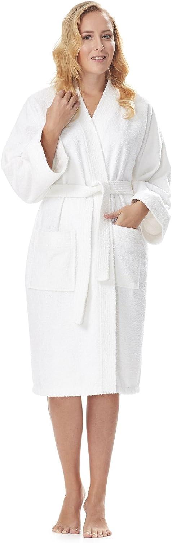 Arus Women's Short Kimono Bathrobe Turkish Cotton Terry Cloth Robe