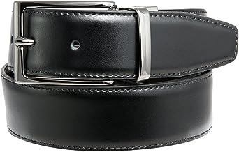 Dautore Cinturon en Cuero Hombre 100% cuero fino, hecho a mano en Italia, reversible