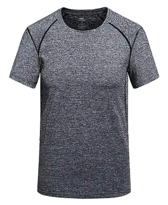稼ぐマイクロフォン楽な[ジェームズ?スクエア] メンズ 速乾 ドライ Tシャツ スポーツ トレーニング シャツ 半袖