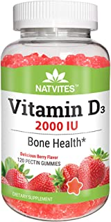 Natvites Vitamin D 2000iu Pectin Gummies for Adults 120Count