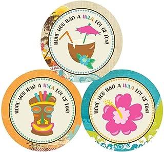 Luau Thank You Sticker Labels - Summer Birthday Baby Shower Bridal Wedding Party - Set of 30