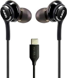 OEM UrbanX 2021 Auriculares estéreo para Samsung Galaxy S20 Cable trenzado – Diseñado por AKG – con micrófono (negro) conector USB-C (versión de EE. UU
