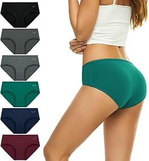 Womens Cotton Underwear, Ladies Hipster Stretch Panties...