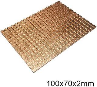 WenJ Ultra Thin De Cobre Puro Portátil Mecánica Duro De Alta Conductividad Térmica Disco Más Fresco Disipa La Memoria RAM del Disipador De Calor De Refrigeración 2.5 In100x70x2 / 3/4 Mm