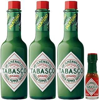 Tabasco Mild Green Pepper Sauce, 57ml pack of 3 and Mini Tabasco