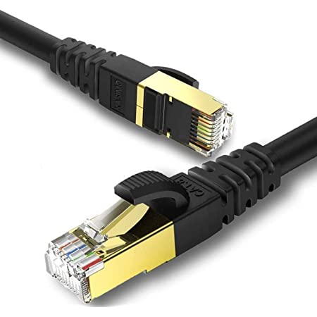 PS3 CableCreation Cat 8 Ethernet Cable 10ft Network LAN Cord Cable 40 Gigabit 2000MHz SFTP Internet High Speed Cable for Modem Xbox Black Router PS4