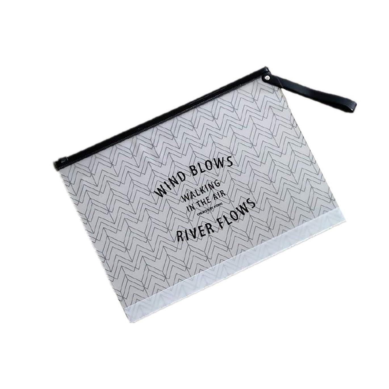 処分したのヒープ香水化粧品化粧品クラッチの旅行主催者は女性と女の子のための洗浄袋に浸透透明ポリ塩化ビニルポータブル印刷(ストライプ)
