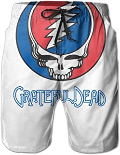 The_Grateful_Dead_Two_From_The_Vault_Poster_ Mens Swim Solid Beach Bathing Suits Pants