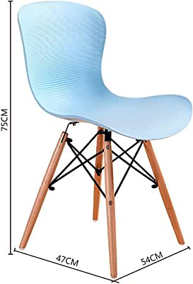 LHcy Casual Talking Chair Silla Simple de plástico de Moda Silla de Comedor Creative Café Silla