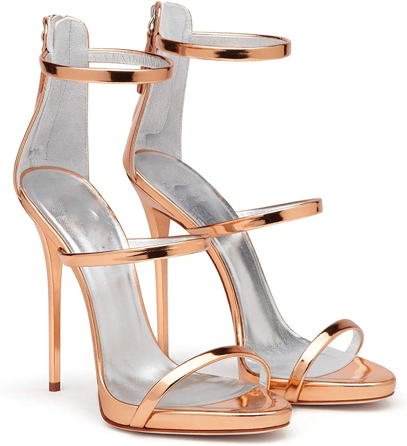 ENDJYO High Heel Sandals Womens Strappy Sandals Suitable for Dating Everyday