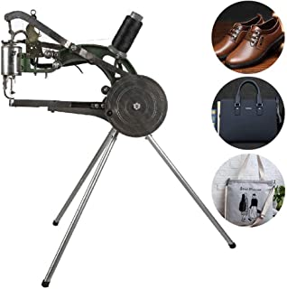 IRONWALLS Shoe Repair Mending Machine Hand Manual Cotton Nylon Line Sewing Machine Cobbler Machine for Shoes Bags Cloth Leather Goods