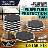 Set de 4 deslizadores para muebles pesados - Ideal para mesas, sofás, camas, Estilistas y aparatos de madera/cerámica/suelos de baldosas y superficies