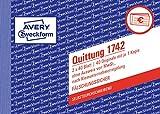 AVERY Zweckform 1742 Quittungsblock Kleinunternehmer weiß