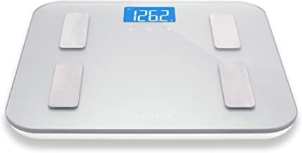 Digital Body Fat Weight Scale by Greatergoods, Accurate Health Metrics, Body Composition & Weight Measurements, Glass Top, with Large Backlit Display (Silver)