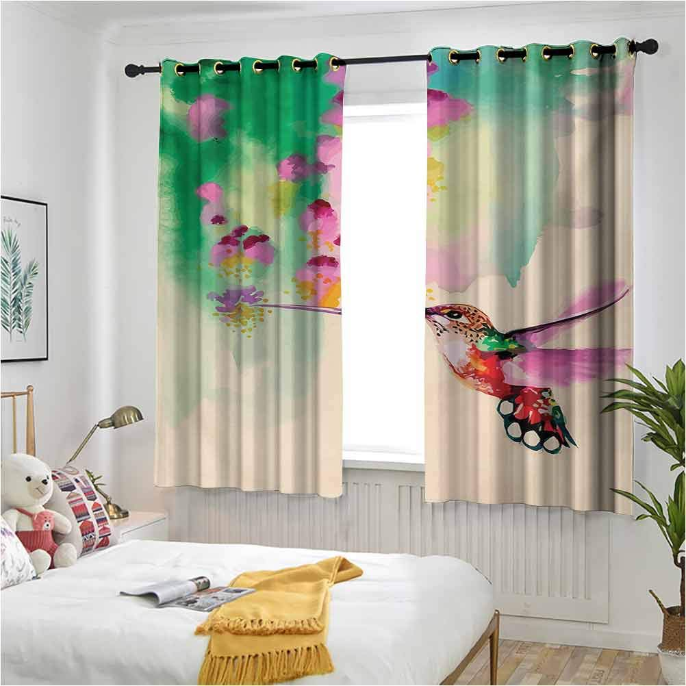 Hummingbird Kids Blackout 2020秋冬新作 Curtains タイムセール Grommets 2 Co with Panels Art