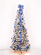 4 ft Snow Frosted Spruce Prelit Pull Up Tree