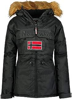 Geographical Norway - Parka para mujer con capucha fija y forro sintético desmontable, modelo Bellaciao