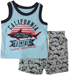 518b4203c3b75 Infant & Toddler Boys Cali Surf Shop Baby Outfit Shark Tank Shirt & Shorts