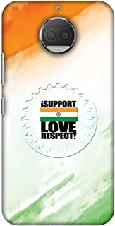 Motorola Moto G5s Plus XT1803 Case, Premium Handcrafted Designer Hard Shell Snap On Case Shockproof Printed Back Cover for Motorola Moto G5s Plus XT1803 - I Support Love India