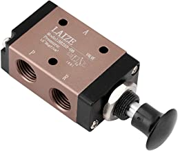 1pc Aluminum 2-Position 3-Port Hand Pull Push Air Control Valve G1/4 Thread Manual Pneumatic Solenoid Value Air Switch